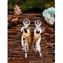 "Boucles d'oreilles plumes totem loup ""Chic and wild"""