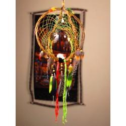 """Attrape rêves artisanal 3D totem serpent et vanadinite """"Power of life"""""""