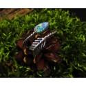 Bague en argent 925 et opale doublet d'Australie