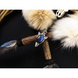 Bouclier de protection chamanique totems 4 animaux