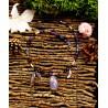 """Collier ethnique plumes, libellule et labradorite violette  """"Dragonfly lagoona"""""""