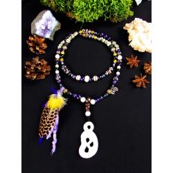 """Mala chamanique 108 perles totem serpent """"Le serpent cosmique"""""""