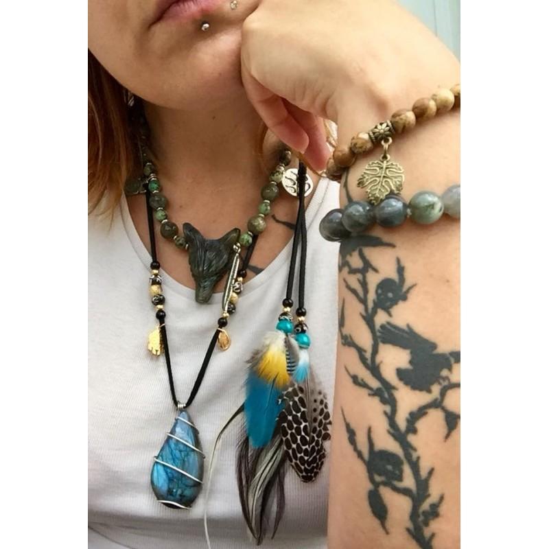 collier lune pour perroquet
