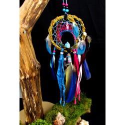 """Catch artisanal dreams 3D wood quartz pink and aqua aura quartz """"Waves of love"""""""