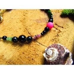 """Bracelet ethnique femme abalone et fleur de lotus """"Let it go"""""""