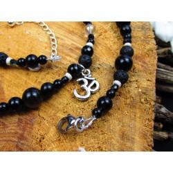 "Bracelet 7 chakras triple rang pierres naturelles "" Spiritual rainbow"""