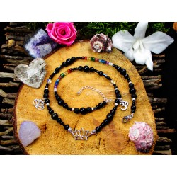 """Bracelet 7 chakras pierres naturelles """" Spiritual rainbow"""""""