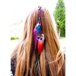 """Bijou de cheveux plumes naturelles """""""