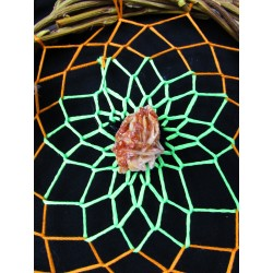 "Attrape rêves artisanal  totem serpent et vanadinite ""Healing jungle"""