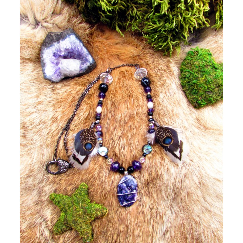 "Collier  ""Purple galaxy"""