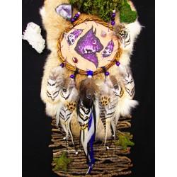 """Mandella  chamanique totem lynx """"Regard perçant"""""""