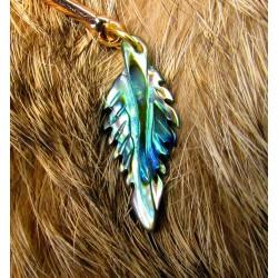 """Ear cuff plumes naturelles améthyste et étoilé de mer"""""""