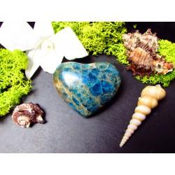 Coeur en Apatite bleue