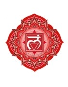 Ethnic jewelry and Native American objects for anchoring: root chakra