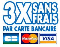 Paiement 3 x sans frais par carte bancaire lesp lumes d'amazone