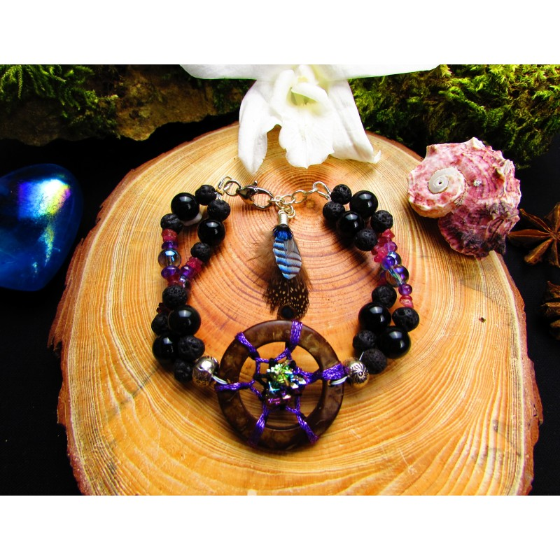 bracelet pierres naturelles et ethnique